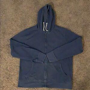 J Crew Fleece Zip-Up Hoodie XL